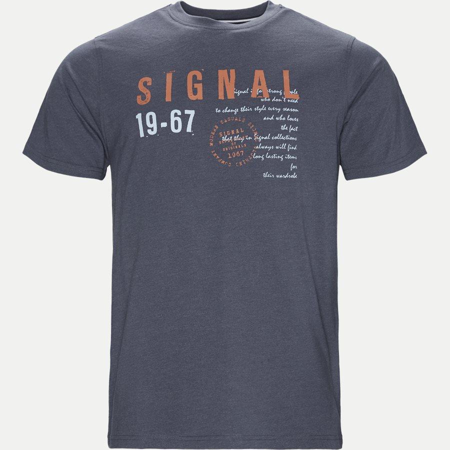 WAINE LOGO - Wayne Tee KM  - T-shirts - Regular - DENIM MELANGE - 1